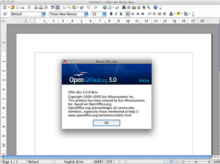 OpenOffice 4.1.3 Screenshot