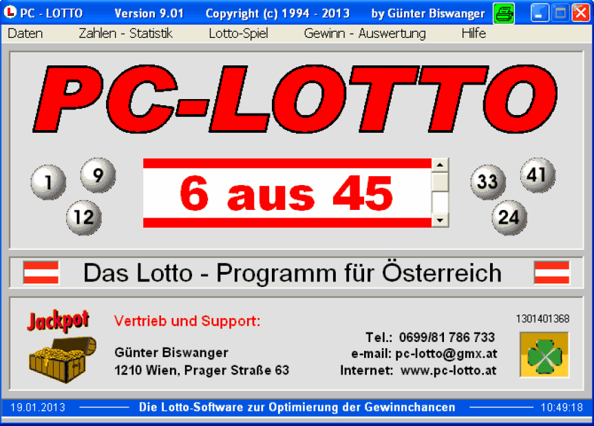 PC-LOTTO 9.01 Screenshot