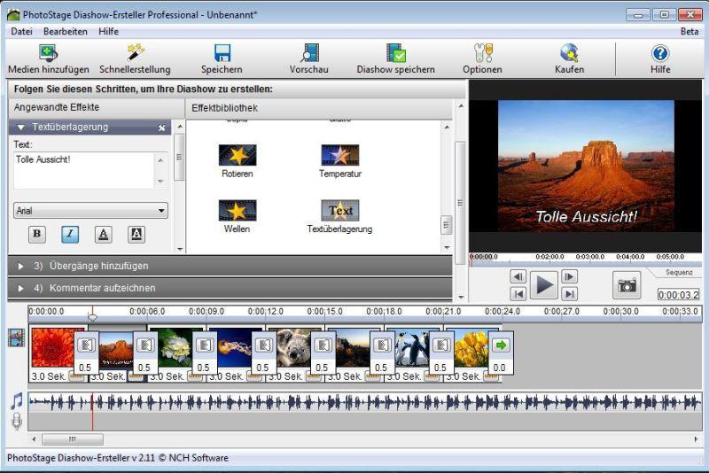 PhotoStage Diashow-Software Screenshot
