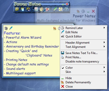 Power Notes 3.50 Screenshot