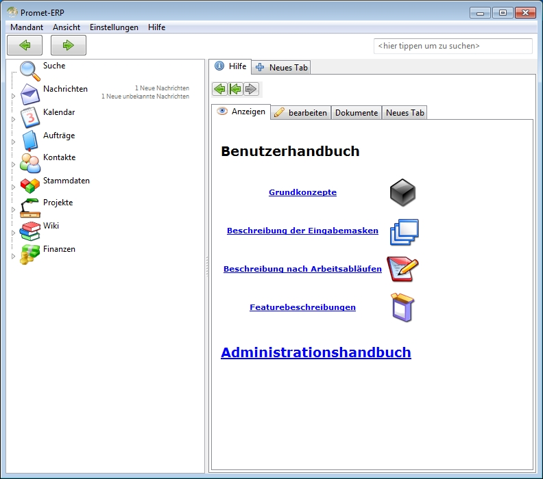 Promet-ERP 7.0.332 Screenshot