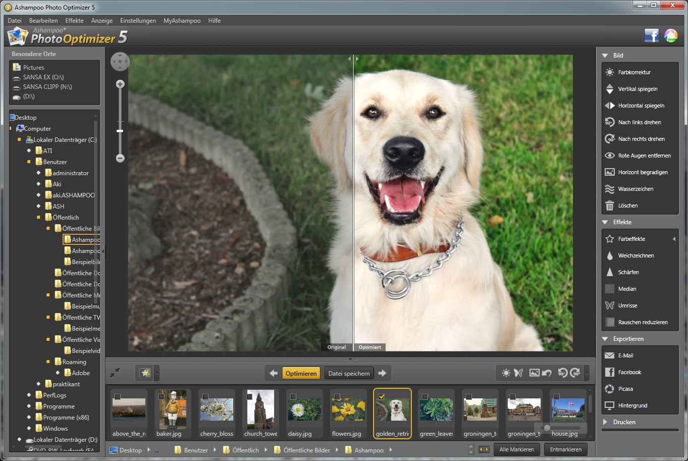 Ashampoo Photo Optimizer 5 5.3.0 Screenshot