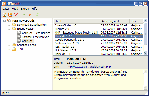 NFReader 1.4.1 Screenshot