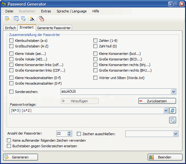 Password Generator Screenshot