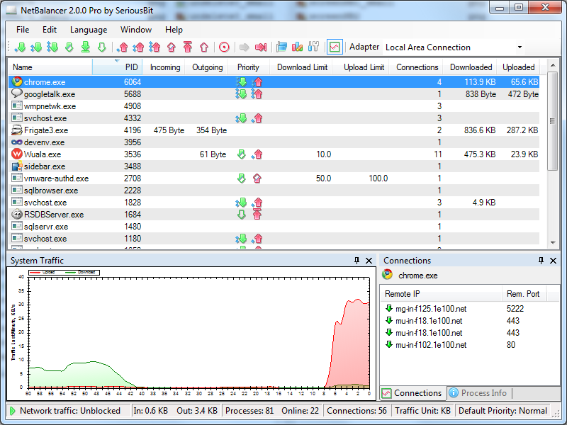 NetBalancer 5.2.1 Screenshot