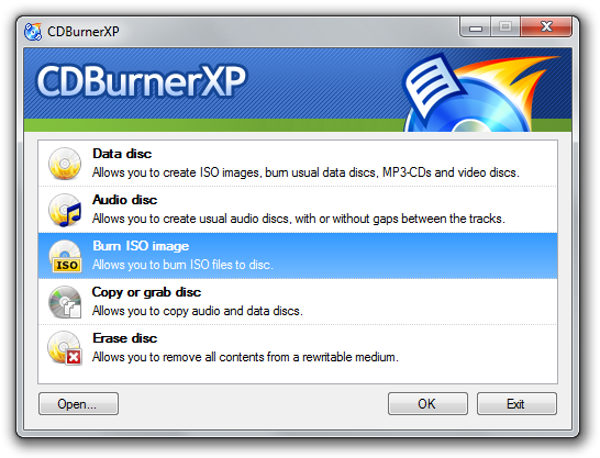 CDBurnerXP Portable 4.3.8.2521 Screenshot