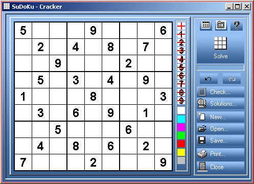 SuDoKu-Cracker Screenshot