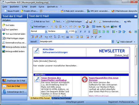 SuperMailer 5.60 Screenshot