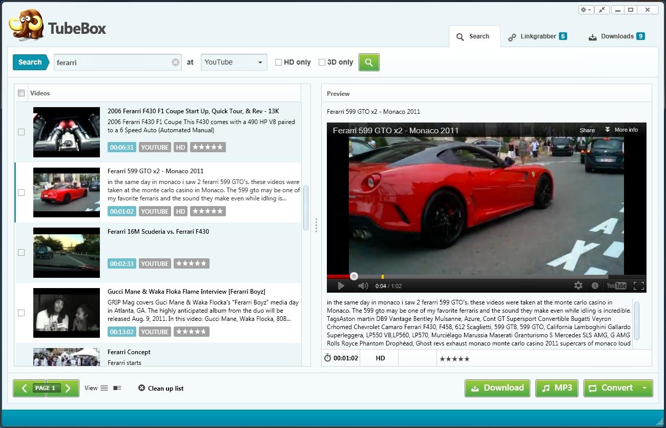 TubeBox 4.1.1 Screenshot