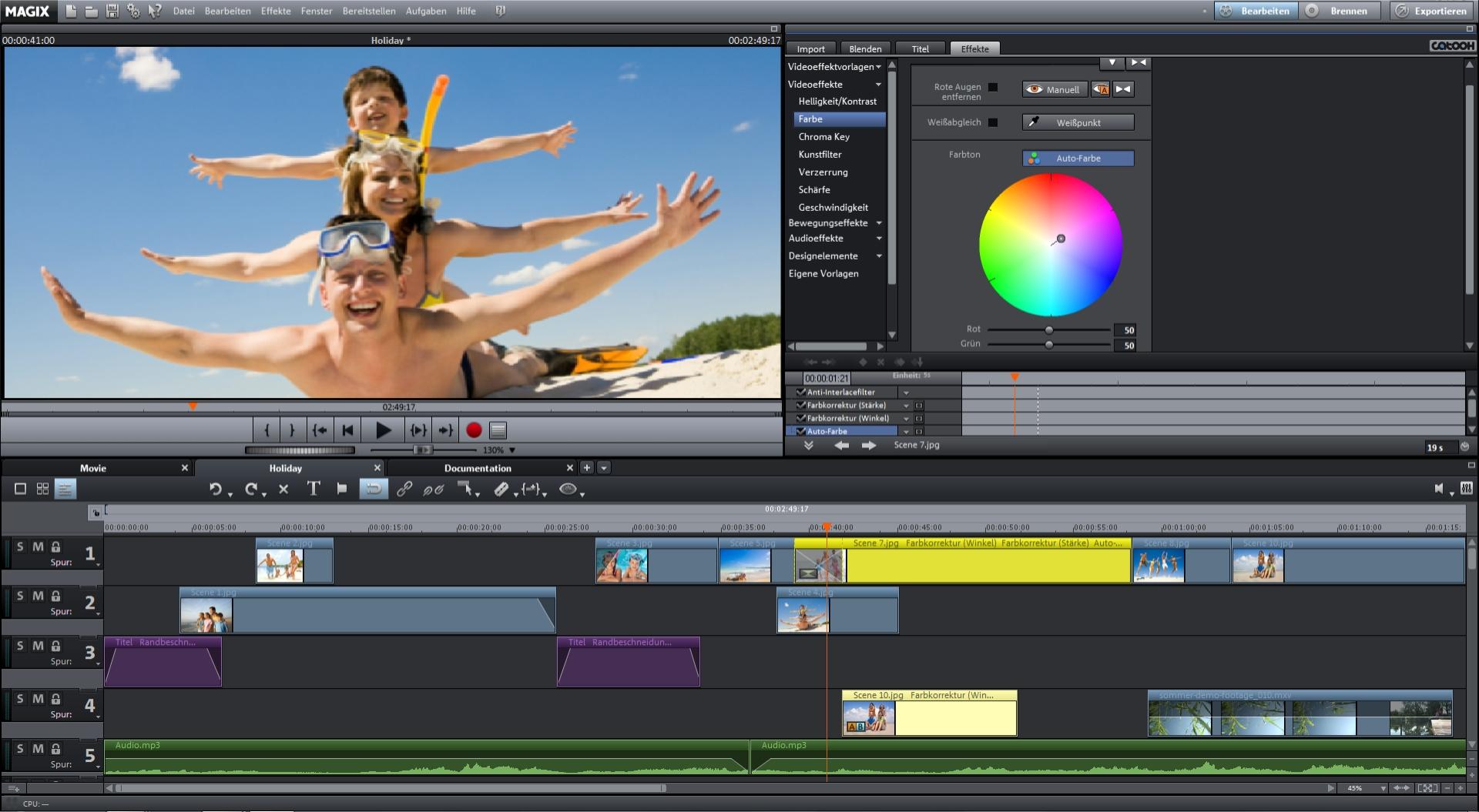 MAGIX Video deluxe 2013 Screenshot