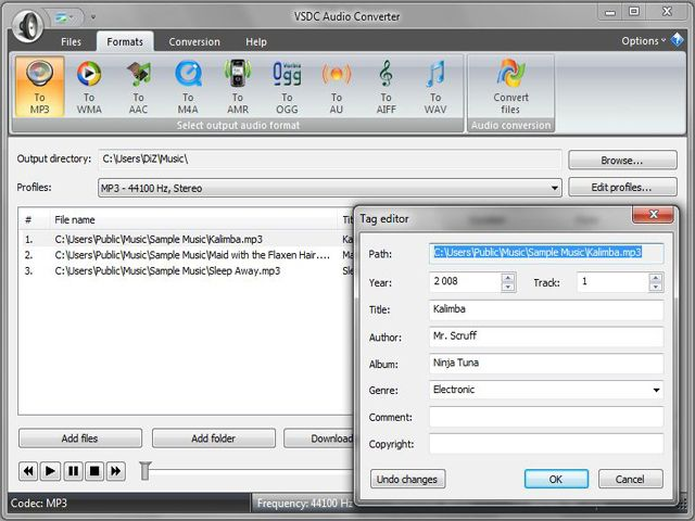 VSDC Free Audio Converter 1.6.3 Screenshot