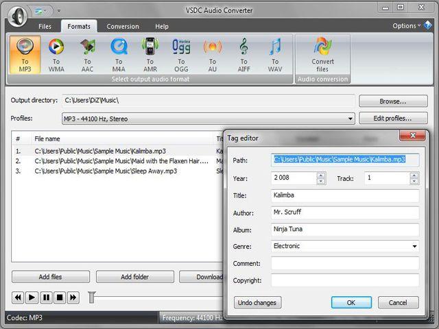 VSDC Free Audio Converter 1.6.3 Screenshot