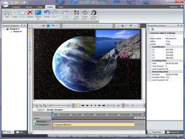 VSDC Free Video Editor 1.2.1 Screenshot