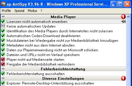 xp-AntiSpy 3.98-2 Screenshot
